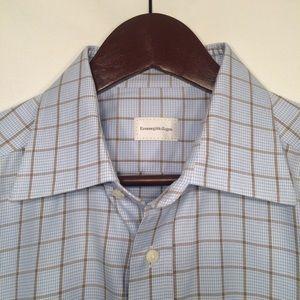 Ermenegildo Zegna Sharp Windowpane Dress Shirt